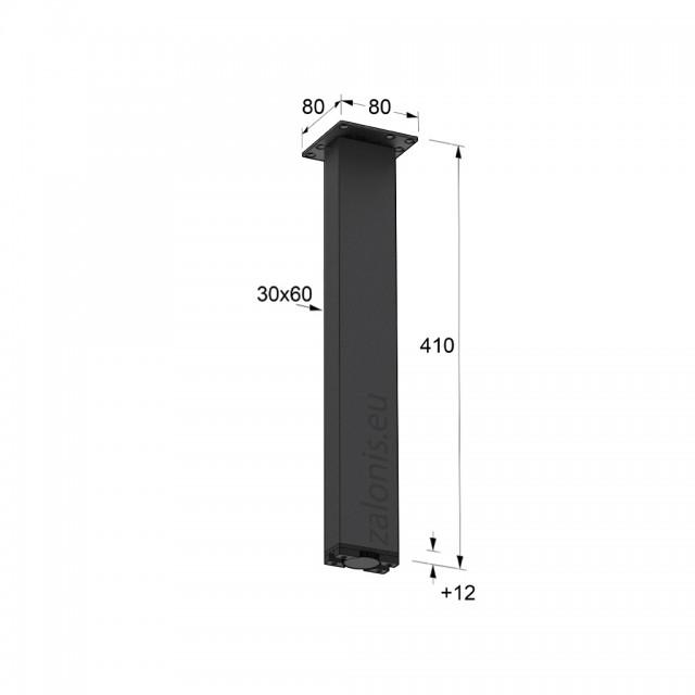 SQUARE LEG 30x60 MAT BLACK 410